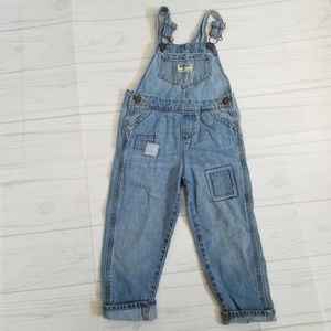 OshKosh Toddler Girl Denim Patchwork Overalls